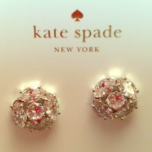 NWT - Kate Spade Earrings - Flying Colors - Silver